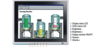 12.1-inch touch panel computer is to industrial-grade design for automation