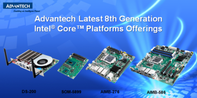 Advantech bases boards and digital signage modules on 8th generation Intel Cores