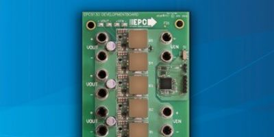 GaN-Based regulated power supply development board demonstrates size reduction