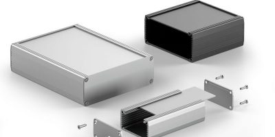 Expansion PCB case has cover options for ease of integration
