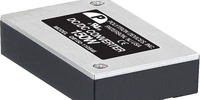 Quarter brick DC/DC converters' input range suits industrial and railway applications