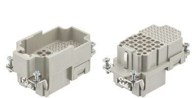 Multi-pole combination connector offers contact density