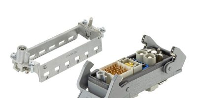 Harting adds hinged frame module for ease of installation
