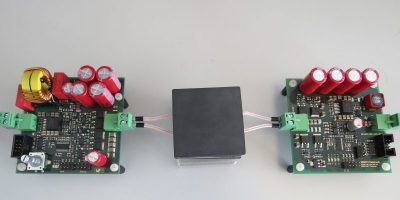 Development kit links transmitter and receiver coils to transfer data