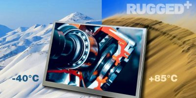 7.0-inch WXGA display is rugged for in-vehicle and marine use