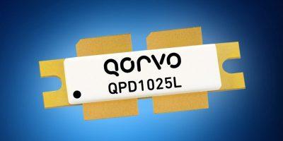 Mouser stocks Qorvo's 1800W QPD1025L GaN-on-SiC transistors for avionics