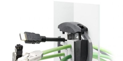 Waterproof split cable gland routes and seals cables