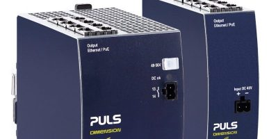 Eight-port DIN rail PoE injectors have integrated or standalone options