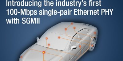 Single-pair Ethernet PHY simplifies automotive designs