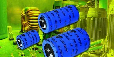 Snap-in power aluminium capacitors save space in solar inverters
