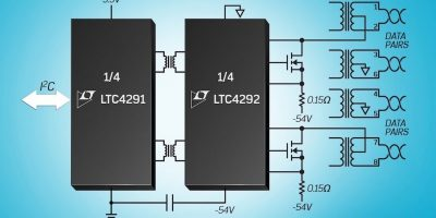 Power sourcing equipment controller chipset delivers up to 71.3W