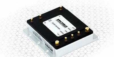 Encapsulated DC/DC converters meet industrial and railway specs