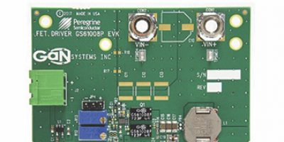 High-performance buck converter evaluation board with integrated semi high-speed driver