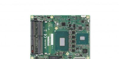 COM Express Type 6 module supports up to six-core Intel processors