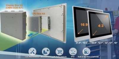 Aaeon adds display box kit to convert panel PCs into digital displays