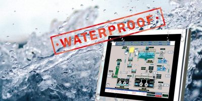 Rugged panel PC is waterproof