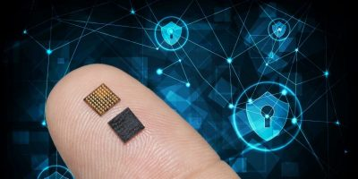 Microcontroller offers robust security in half the package size