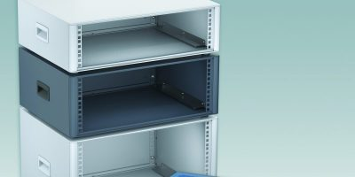 19-inch rack enclosures are supplied assembled