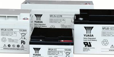 Gresham Power Electronics offers flame retardant Yuasa NPL industrial batteries