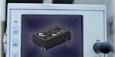 DC/DC converters are 2 x MOPPs certified for medical applications