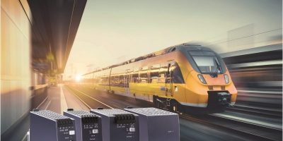 DIN rail power supplies are for trackside and on-board rail use