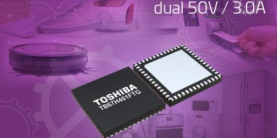 Toshiba releases DC brushed motor IC with current limit detection