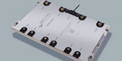 AC/DC converter in tablet configuration enables high density racks