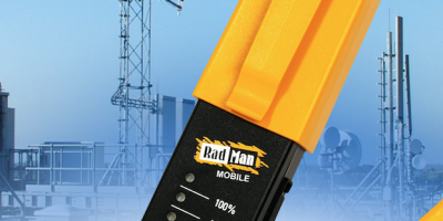Personal RF safety monitor protects personnel from electromagnetic fields