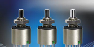 Rotary switch gives tactile feedback in compact design