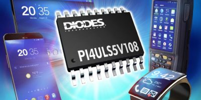 Eight-channel level shifter is bi-directional for inter-IC comms