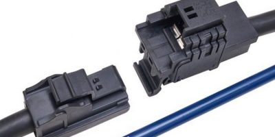 In-line power connectors shrink for industrial applications