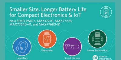 Single-inductor, multiple-output power-management architecture halves size for IoT devices