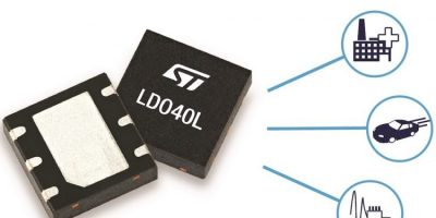 Low-noise LDO regulator powers automotives and smart automation