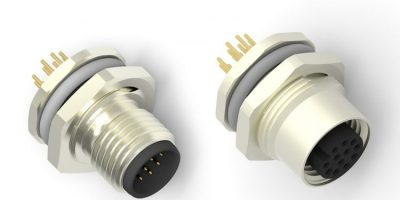 M12 range now includes connectors for PCBs and panels