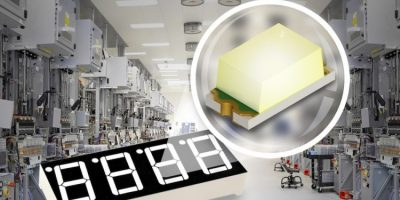 White chip LED improves industrial displays