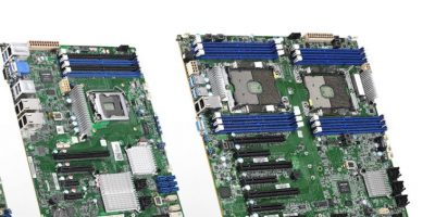 Server motherboards are powered by Intel Xeon processors