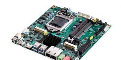 Thin Mini-ITX motherboard supports 8th gen Intel Core processors