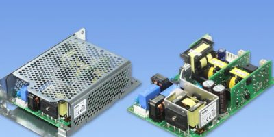 Power supplies' triple isolated outputs suit robotic controllers