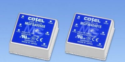 40W DC/DC converter guarantees lifetime quality for IoT and comms