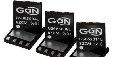 GaN power transistors are developed for sub-1kW applications