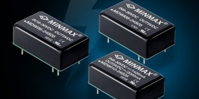 DC/DC converters save space in 6.0, 8.0 and 10W applications