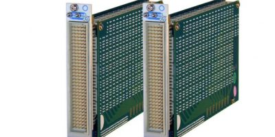 High-density two-pole PXI switching matrices feature relay self-test support