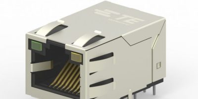Industrial Ethernet jacks have integrated magnetics and PoE