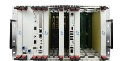 6U chassis has up to 12 VPX slots and fibre optic I/O