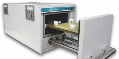 Acoustic test chamber is stackable and fit for automotive