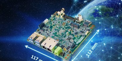 Compact industrial motherboard supports three displays