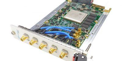 VPX, dual RF agile transceiver has VITA 67.2 RF connector