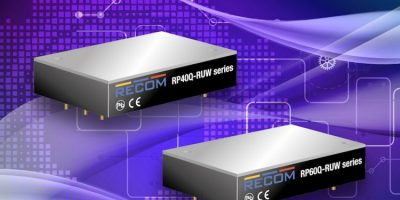 Rugged DC/DC converters target railway use