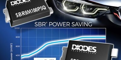 Super barrier rectifier diodes reduce power in automotive lights
