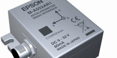 Accelerometers support CAN or RS-422 protocols